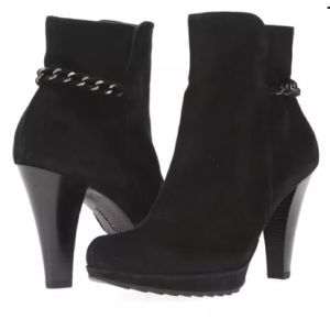 Paul Green Shoes - New! Paul Green Suede Chain Booties